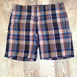 Gap Brown Plaid Casual Khaki Men's Short Size 36